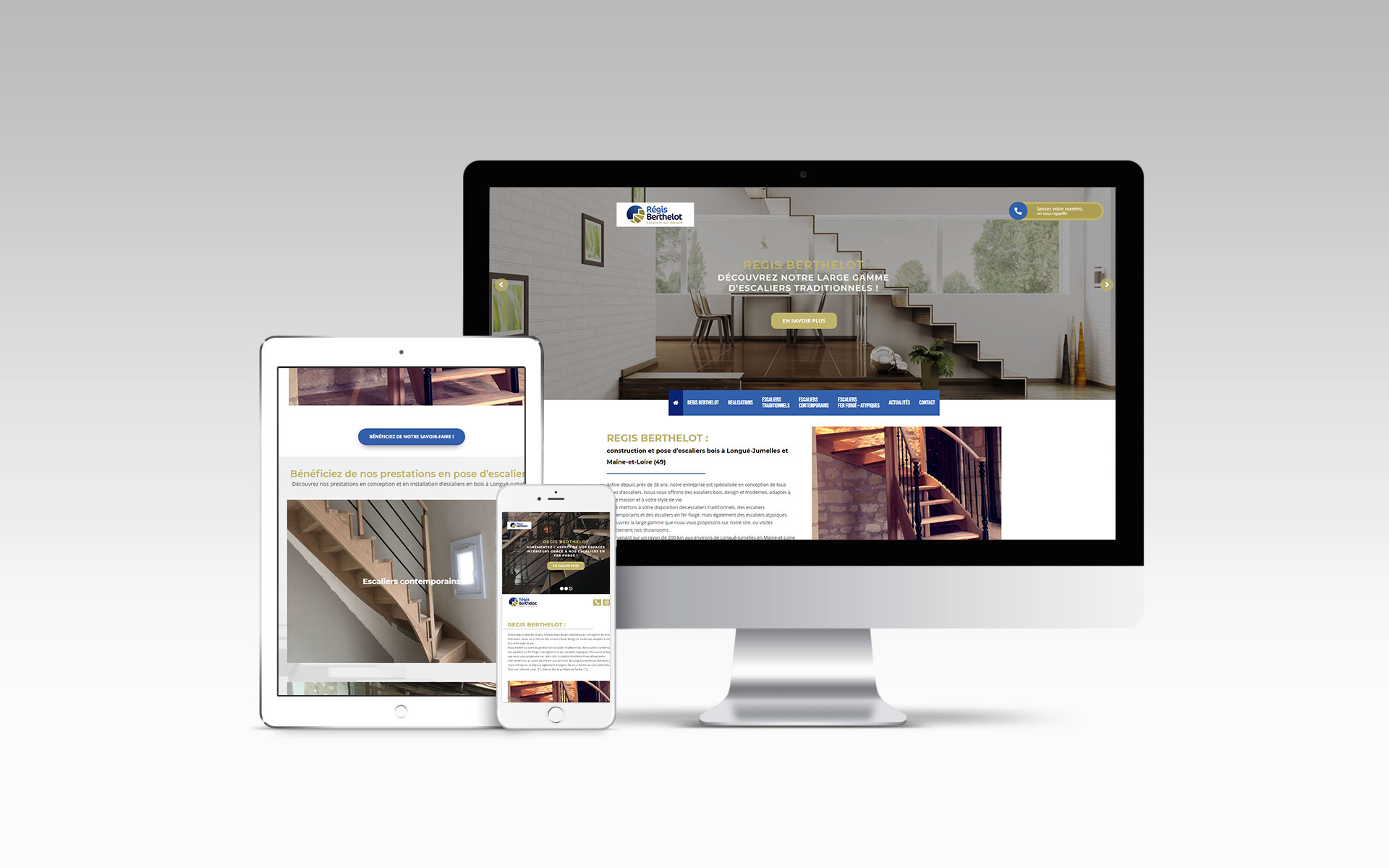 REGIS BERTHELOT Fabricant Escaliers Longue Jumelles Website Mockup Actualite FF